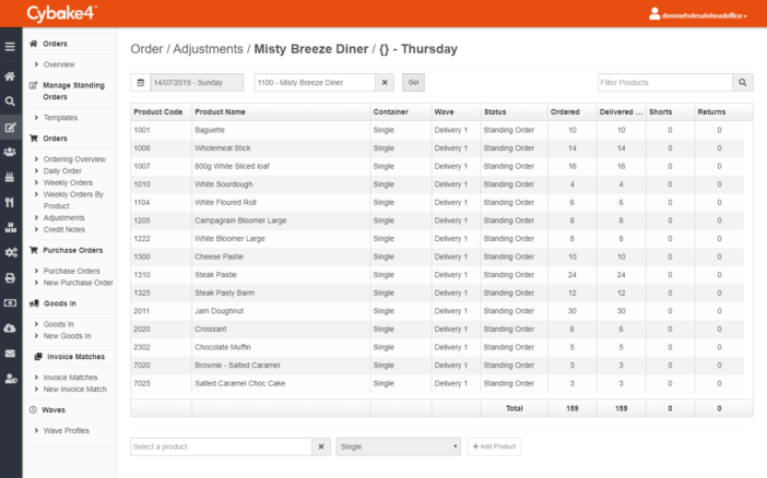 Make adjustments easily with our bakery management system