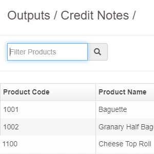 Filter by product - management software for bakeries