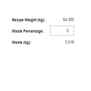 Target waste into a recipe - bakery scheduling software